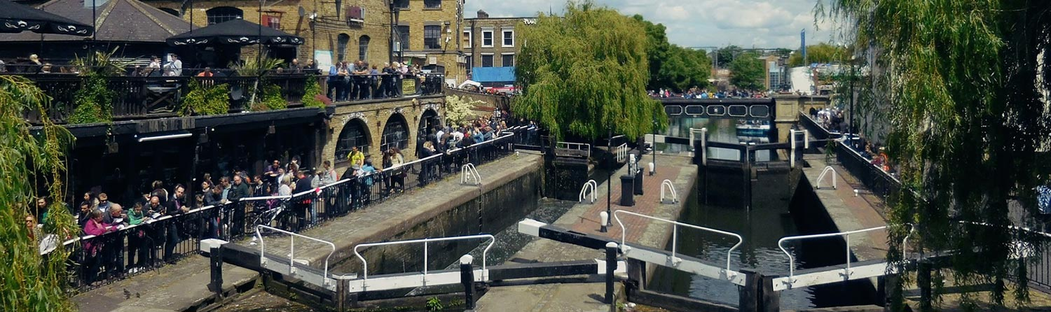 Camden town in north London