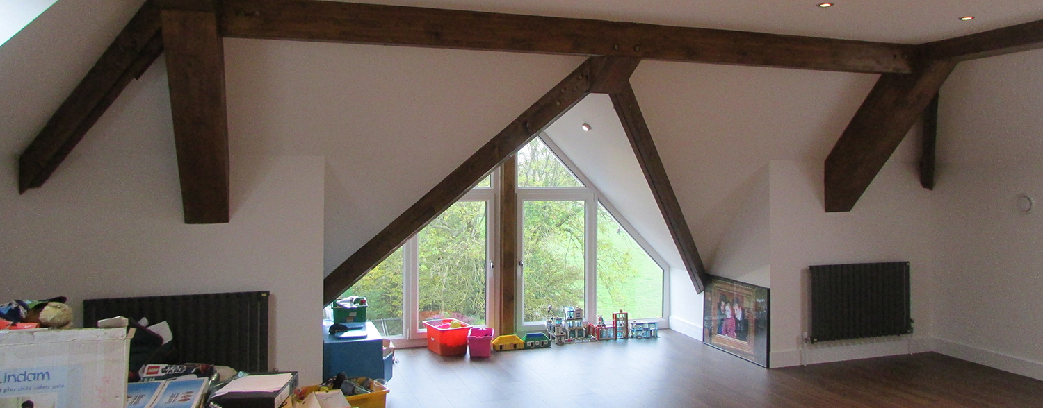 Room with pitched roof